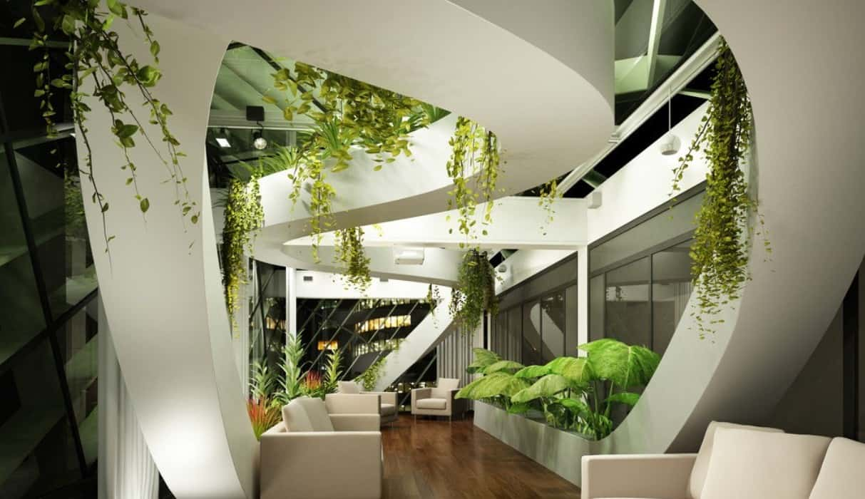 lobby indoor landscape design